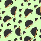 Cartoon hedgehog repetitions Royalty Free Stock Photos
