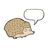 cartoon hedgehog with speech bubble Stock Photo