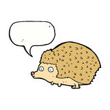 cartoon hedgehog with speech bubble Stock Photos
