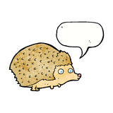 cartoon hedgehog with speech bubble Royalty Free Stock Images