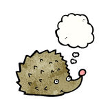 cartoon hedgehog with thought bubble Royalty Free Stock Photography