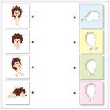 Cartoon hedgehogs. Educational game for kids Stock Photos
