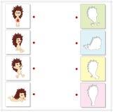 Cartoon hedgehogs. Educational game for kids Stock Photo