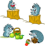 Cartoon hedgehogs Royalty Free Stock Image