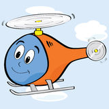 Cartoon helicopter Stock Images