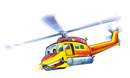 Cartoon helicopter Stock Photos