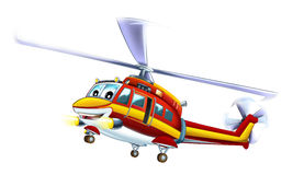 Cartoon helicopter. Beautiful illustration for the children Royalty Free Stock Photos
