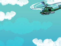 Cartoon helicopter - illustration for the children Royalty Free Stock Photos