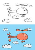 Cartoon helicopter illustration Royalty Free Stock Photography