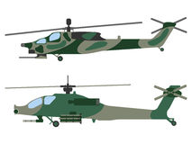 Cartoon helicopter. Military equipment icon. Vector illustration Stock Photography