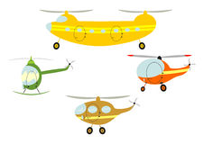 Cartoon Helicopters Stock Photos