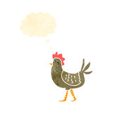 Cartoon hen Royalty Free Stock Image