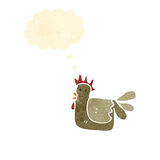 Cartoon hen Royalty Free Stock Photography