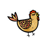Cartoon hen Stock Photography