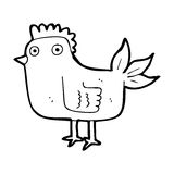 Cartoon hen Royalty Free Stock Photos