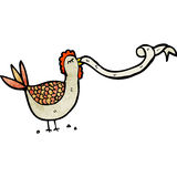 Cartoon hen clucking Stock Images