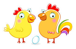 Cartoon hen and Royalty Free Stock Photography