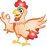 Cartoon hen Stock Photos