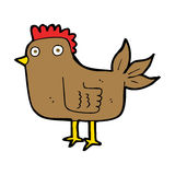 Cartoon hen Royalty Free Stock Photo