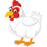 Cartoon hen. Illustration of cute Cartoon hen Stock Image