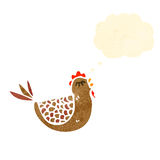 Cartoon hen with thought bubble Royalty Free Stock Image