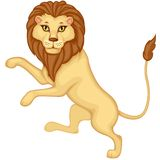 Cartoon heraldic lion Royalty Free Stock Image