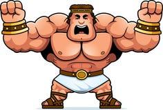 Cartoon Hercules Angry. A cartoon illustration of Hercules looking angry Stock Photography