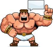 Cartoon Hercules Talking. A cartoon illustration of Hercules talking Royalty Free Stock Photography