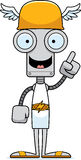 Cartoon Hermes Robot Idea Stock Photo
