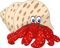 Cartoon hermit crab. Illustration of Cartoon hermit crab Royalty Free Stock Photos