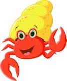 Cartoon hermit crab Royalty Free Stock Photos
