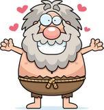 Cartoon Hermit Hug Stock Image