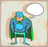 Cartoon hero illustration  , vector icon. Royalty Free Stock Photo
