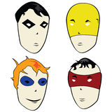 Cartoon heroes and villains Royalty Free Stock Photo