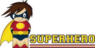 Cartoon Heroic Superhero Stock Photography