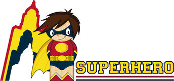 Cartoon Heroic Superhero Stock Images