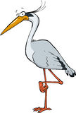 Cartoon heron Stock Photo