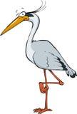 Cartoon heron royalty free illustration