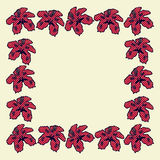 Cartoon hibiscus frame Royalty Free Stock Photography