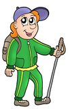 Cartoon hiker vector illustration