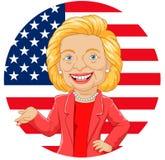 Cartoon Hillary Clinton Character royalty free illustration