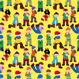 Cartoon hip hop boy dancing seamless pattern Royalty Free Stock Photo