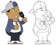 Cartoon hip hop guy Stock Photography