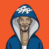 Cartoon hip-hop performer Stock Image