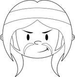Cartoon Hippie Character Stock Photography