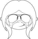 Cartoon Hippie Character Royalty Free Stock Image