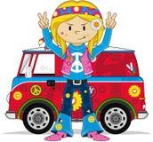 Cartoon Hippie Character Stock Photo