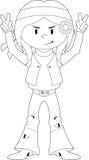 Cartoon Hippie Character Royalty Free Stock Photography