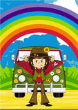 Cartoon Hippie Character Stock Images