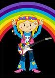 Cartoon Hippie Character Stock Image